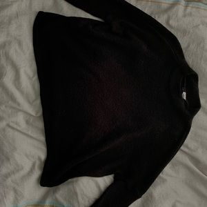 Mock neck black sweater